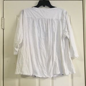 Lucky brand white lace up top plus size 2x